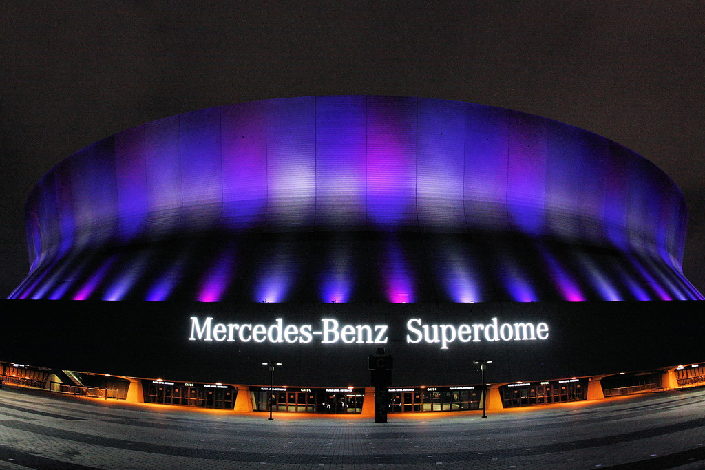 Caesars Superdome, home of the New Orleans Saints