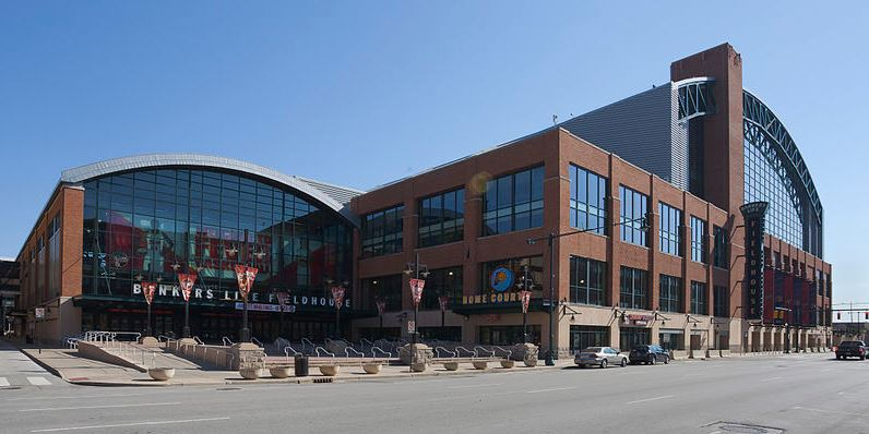 Bankers Life Fieldhouse, home of the Indiana Pacers